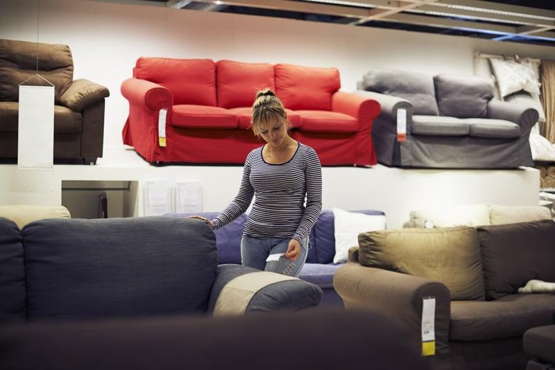 Woman Furniture Shopping