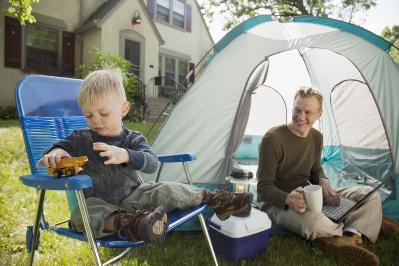 Family-Camping-at-Home