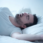 Photo of man who is asleep